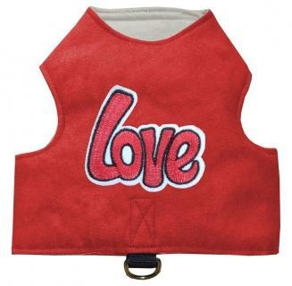 Kitty Jacket Katzengeschirr Love rot