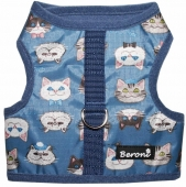 Beroni Katzengeschirr NO ESCAPE Walking Jacket friendly cats blau