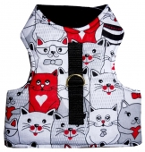 Beroni Katzengeschirr NO ESCAPE Walking Jacket lovely cats schwarz